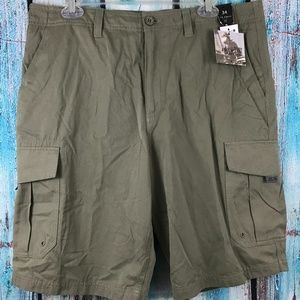 O'Neill Men's Olive Green Cargo Shorts Flat Front